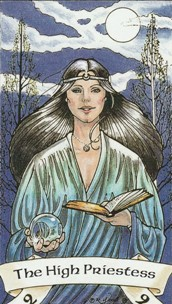 Kristal Kira presents Robin Wood Tarot The High Priestess Card.